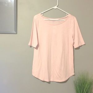 ✨ NWT LOFT   Pink Basic Short Sleeve T-Shirt